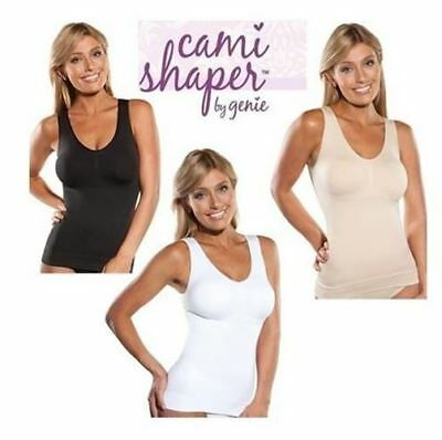 Genie 3 in 1 Cami Shaper w/ Built-in Bra Seamless Shaping Camisole ( Pack of 1 )