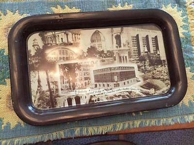 Metal Photo Tray Evanston First National Bank and Trust Company Landmarks 1955