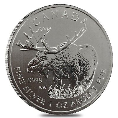 2012 1 oz Silver Canadian Moose - Wildlife Series (Cull)