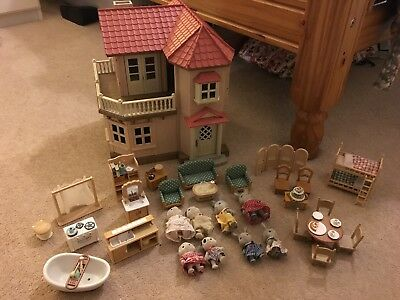 Sylvanian Families Beechwood Hall Fully Furnished, With Family