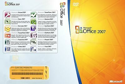 Microsoft Office Professional Plus  2007 (Word Excel Power Point Outlook) (5PCs)