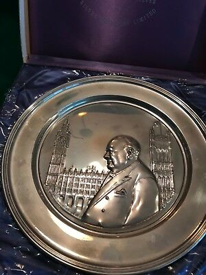 Churchil Hour of Decision Sterling Silver plate#253