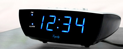 Equity EXTRA LOUD Digital Alarm Clock Blue LED Display Electric w Battery Backup