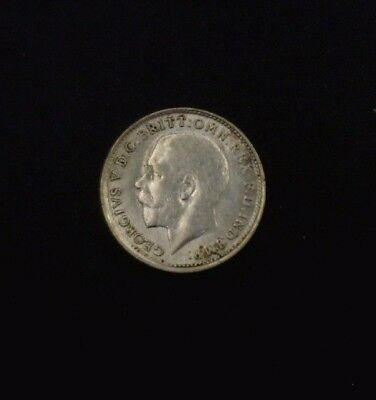 1915 Great Britain Three Pence .925 Fine Silver ASW .0420 oz KM # 813