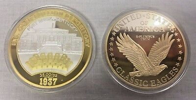 American Mint US Gold Depository Fort Knox & Classic Eagles Commemorative Coins