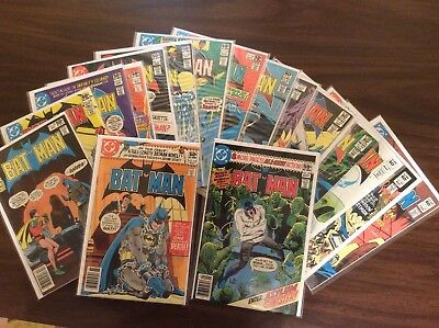 Lot (17) DC Comics, Batman #327,329,330, 333 - 340, 342 - 345, 347, 348, Bronze