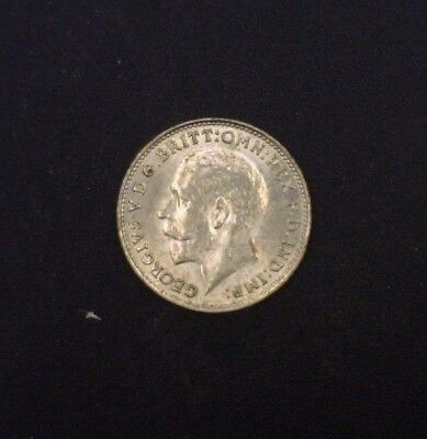 1925 Great Britain Three Pence .500 Fine Silver ASW .0212 oz KM # 813a