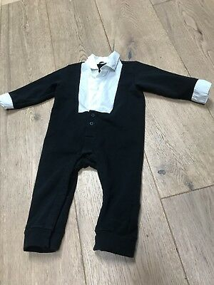 Dolce & Gabbana For Baby Boy Collered Pant Suit Navy White 6-12 mo.