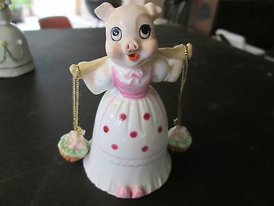 Vintage collectable piggy bell cartoon themed bone china buy 1 and2nd half price
