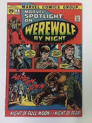 MARVEL SPOTLIGHT #2 (1972), 1st WEREWOLF BY NIGHT, Fine+ Shape, Marvel Comics