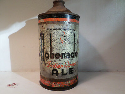 RARE! Hohenadel Indian Queen ALE Quart Cone Top Beer Can.