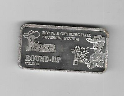 Hotel & Gambling Hall Laughlin, Nevada RoundUp Club .999 Fine Silver Bar 5TroyOZ