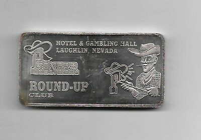 Hotel & Gambling Hall Laughlin, Nevada RoundUp  .999 Fine Silver Bar 10 Troy OZ