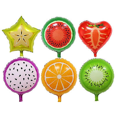 Fruits Foil Balloons Helium Ballons Birthday Decoration Party SuppliesK+
