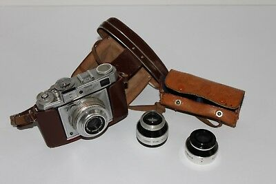 Vintage Braun Colorette Super IB with Accura Telephoto and Wide-Angle Lens