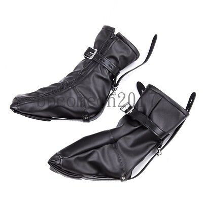Leatherette Shoe Foot Boot Fetish Restraint Toy with zipped straps Fancy Booties