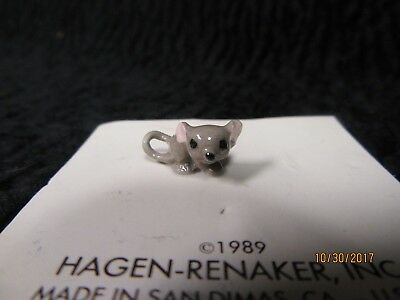 Vintage Hagen-Renaker Inc Hand Crafted Ceramic Baby Mouse 1989