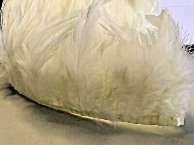 Butter Cream Rooster Feather Fringe Ribbon Trim Tassel (price for 30cm) Craft