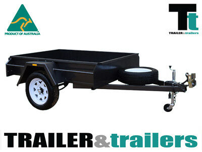 6x4 SINGLE AXLE DOMESTIC HEAVY DUTY BOX TRAILER | FIXED FRONT | NEW WHEELS