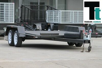 """CAR CARRIER TRAILER TANDEM 14x6'6"""" INCLUDES RAMPS *NEW TYRES* BEAVER TAIL"""
