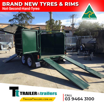 8x5 TANDEM LANDSCAPE/GARDENING TRAILER - MOWER BOX - RAMPS - NEW WHEELS & TYRES