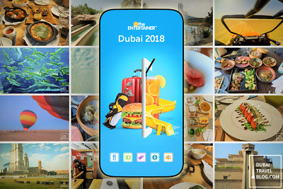 Entertainer Dubai 2018+Fine dining+SPA+Cheers 2018 Mobile app 5 DAY USE
