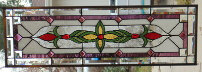 Stained Glass window hanging  37 1/2 X 11 3/4