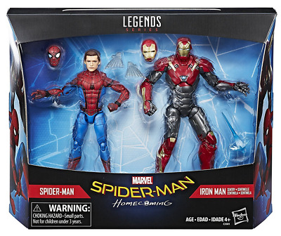 Marvel Legends Spider-Man Homecoming Spider-Man & Iron Man Sentry 2 Pack