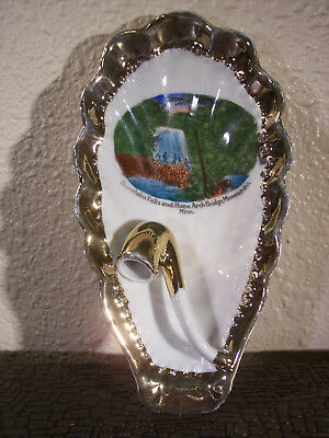 Excellent 1900's Minneapolis Minnesota Minnehaha Falls Porcelain Pipe Rest/Tray