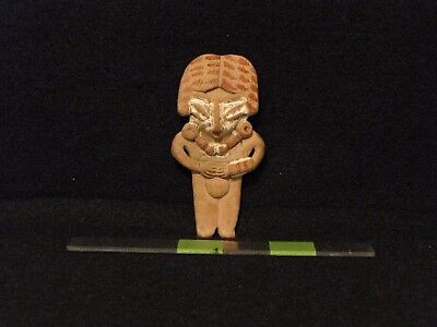 """Pre Columbian, Colima """"Gingerbread"""" Pottery Figure, Late Form. 300 BC 100 AD"""