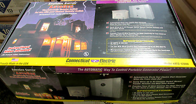 * NIB .Connecticut Electric Automatic Transfer Switch Cat# ATS-12000  .. WHS-200