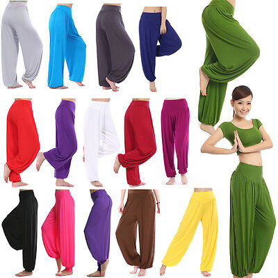 Women Harem Pants Cotton Baggy Yoga Dance Indian Aladdin Loose Casual Trousers