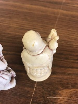 bone type cared vintage oriental figures 2.75""