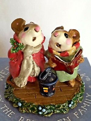 """Wee Forest Folk Christmas Mouse """"Silent Night"""" M-173 Original Box MINT RETIRED"""