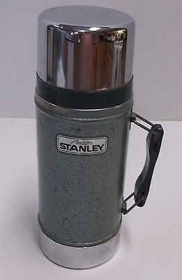 Vintage Usa Made Aladdin Stanley Stainless Steel 24 Oz Wide Mouth Thermos Bottle