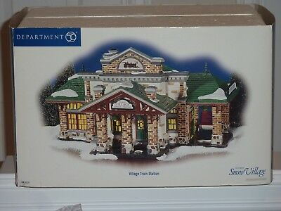 Department 56 Village Train Station-Free Shipping
