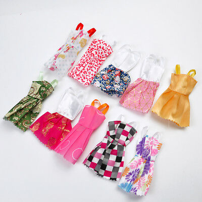 "10Pcs Handmade Wedding Party Dresses Clothes For 11"" Barbie Dolls Random Style"