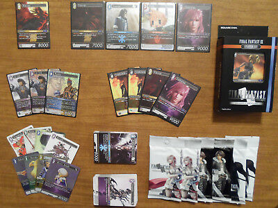 Final Fantasy TCG Collection Vincent 2-077L, FOIL PROMOS, 6 Sealed Packs + More!