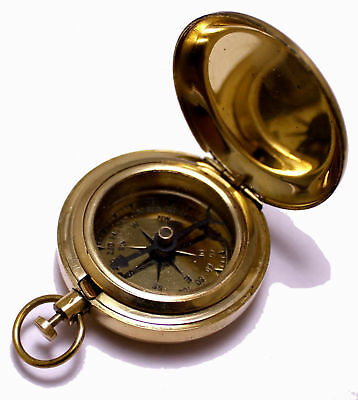 Classic Pocket Watch Antique Camping Outdoor Kit Brass Compass Christmas Gift