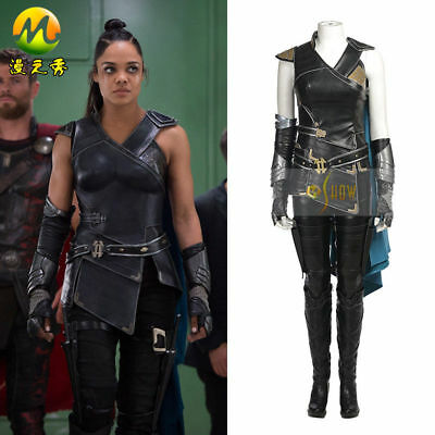 New Thor 3 Ragnarok Valkyrie Cosplay Gloves Arm Guard Cos PU leather Halloween