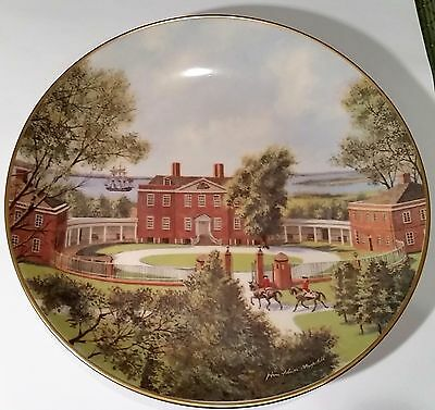 """AMERICAN COMMEMORATIVE COUNCIL GORHAM CHINA -  GOV. TRYON'S - 11"""" Plate 1976"""
