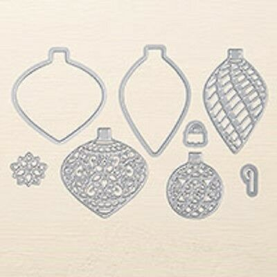Brand New Stampin' Up Delicate Ornament Thinlits Dies Christmas Baubles Bling