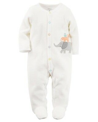 Carters Terry Snap Up Sleep And Play Sleeper Footed Pajamas Size 6 Months