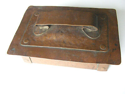 Antique Hand Hammered Copper Craftsman, Arts & Crafts  style  Box with Lid