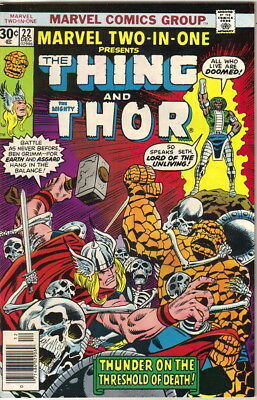 Marvel Two-In-One Comic Book #22 The Thing and Mighty Thor Marvel 1976 VERY FINE