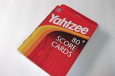 NEW Yahtzee Score Cards Dice Game Pads Milton Bradley 80 Cards - FREE SHIPPING