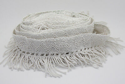 6.3 metres of DIVINE SILKY VINTAGE ITALIAN IVORY FRINGING