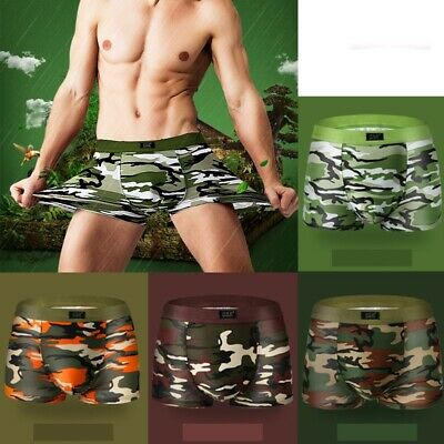 Sexy Men's Camouflage Boxer Shorts Low Rise Underwear Boxer Briefs Underpants