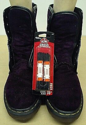 Vintage Doc Dr. Martens Purple Velvet Boots Size Uk 5 Us 7