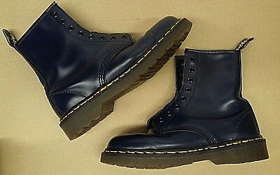 Dr Martens 1460 8 Eye Vintage 80s-90s Made In England Boots Navy UK 5  US 6